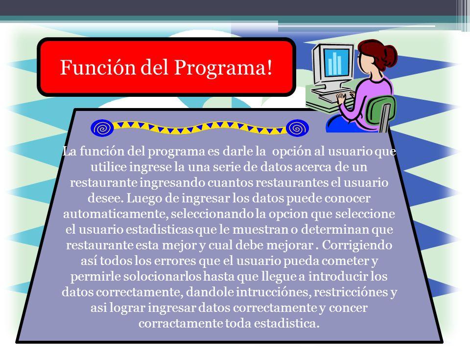 Función del Programa!