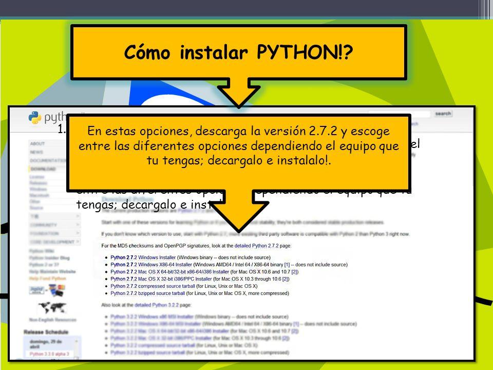 Cómo instalar PYTHON!