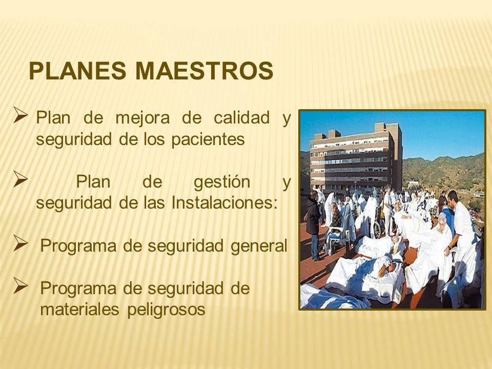 PLANES MAESTROS Plan de mejora de calidad y seguridad de los pacientes