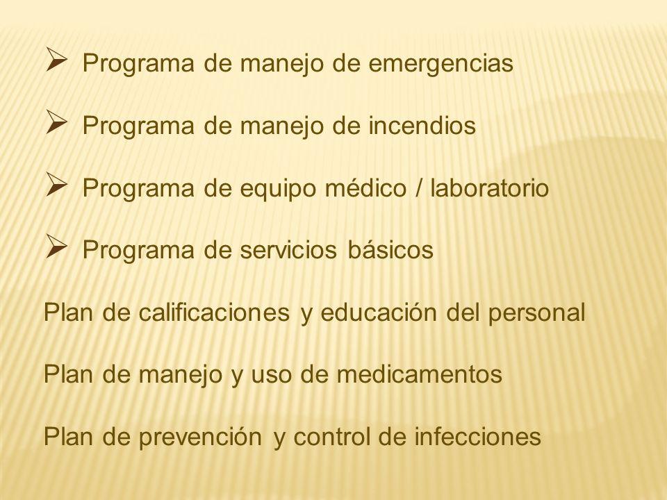 Programa de manejo de emergencias