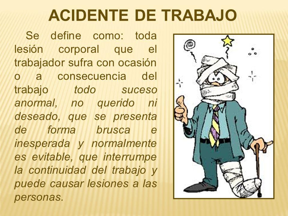 ACIDENTE DE TRABAJO
