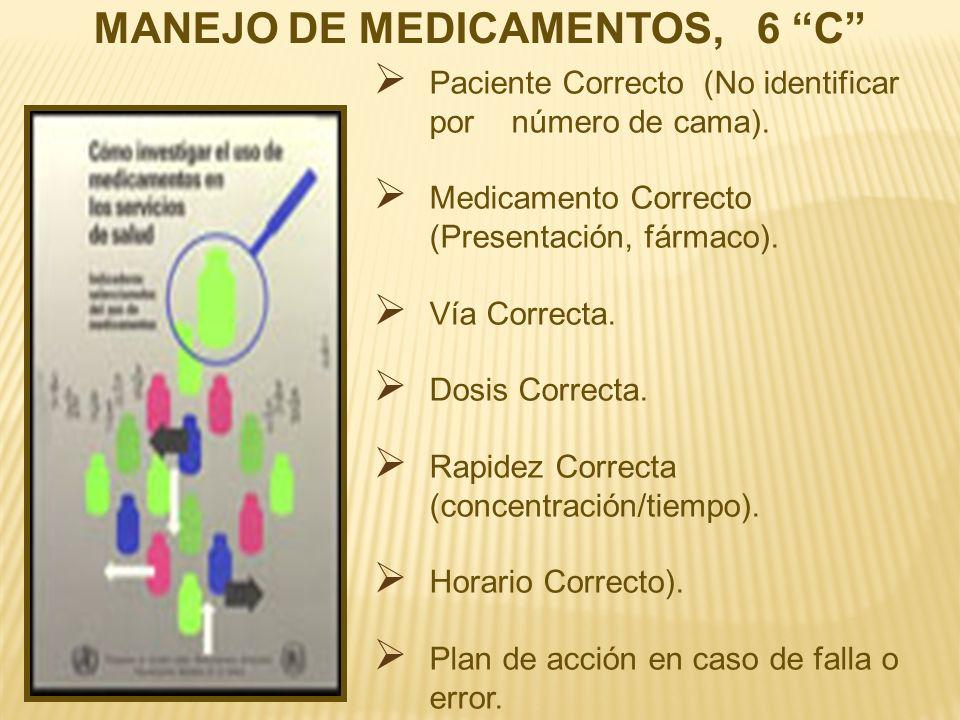 MANEJO DE MEDICAMENTOS, 6 C