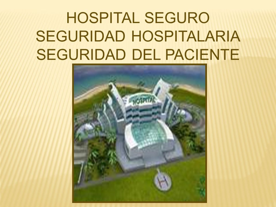 SEGURIDAD HOSPITALARIA SEGURIDAD DEL PACIENTE