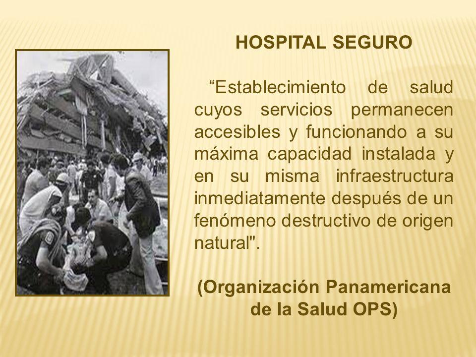 (Organización Panamericana de la Salud OPS)