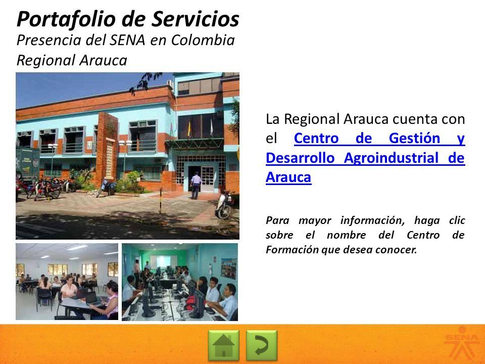 Presencia del SENA en Colombia Regional Arauca