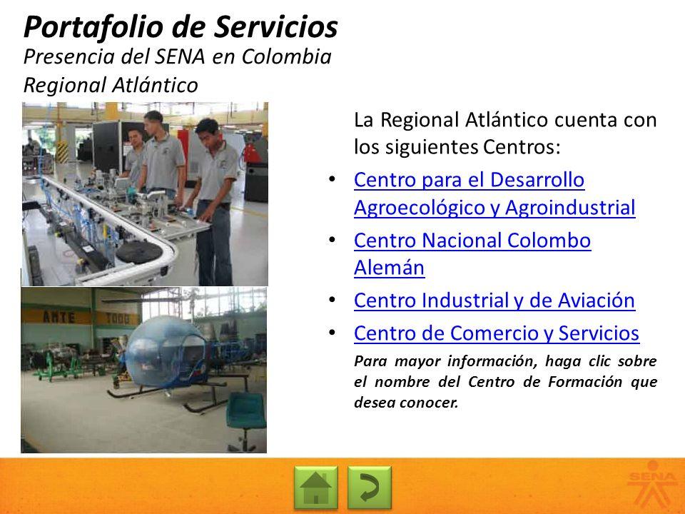 Presencia del SENA en Colombia Regional Atlántico