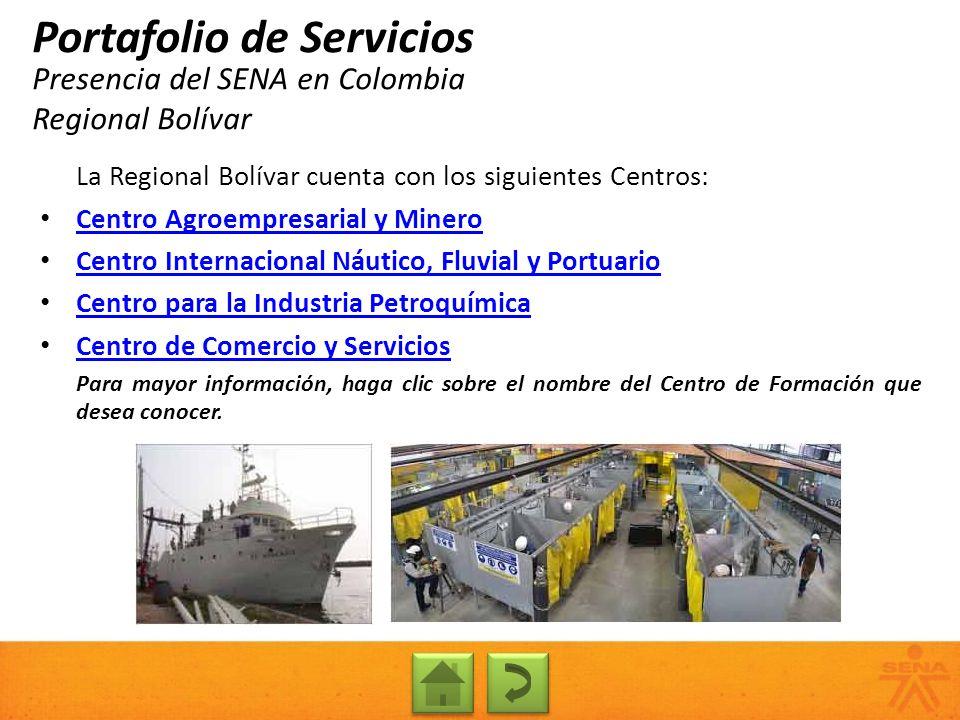 Presencia del SENA en Colombia Regional Bolívar