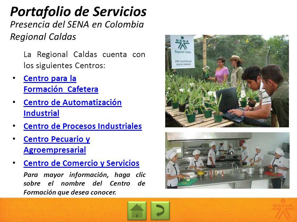 Presencia del SENA en Colombia Regional Caldas