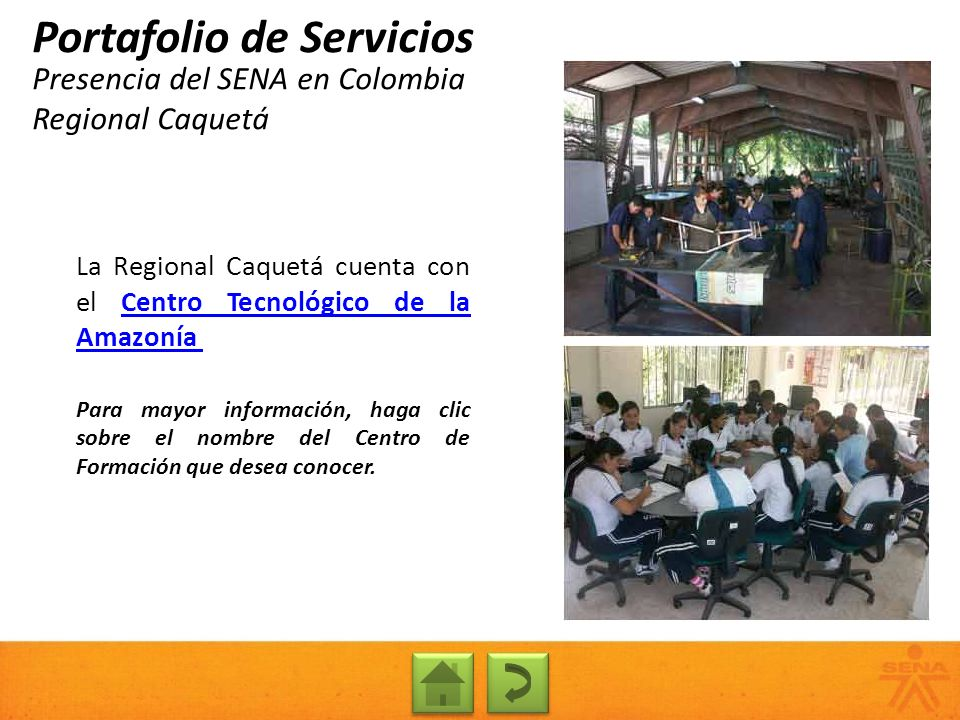 Presencia del SENA en Colombia Regional Caquetá