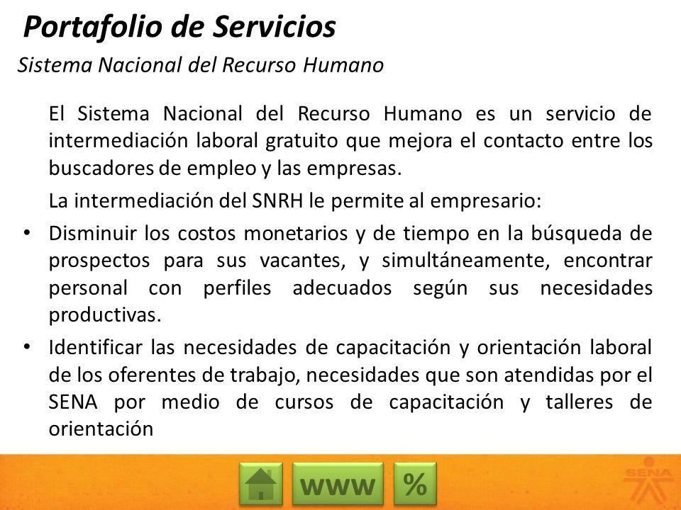 Sistema Nacional del Recurso Humano