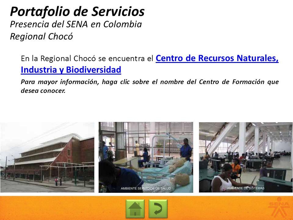 Presencia del SENA en Colombia Regional Chocó