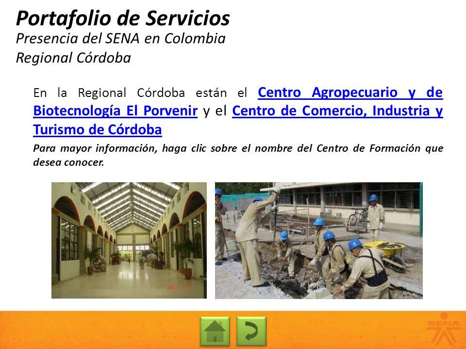 Presencia del SENA en Colombia Regional Córdoba