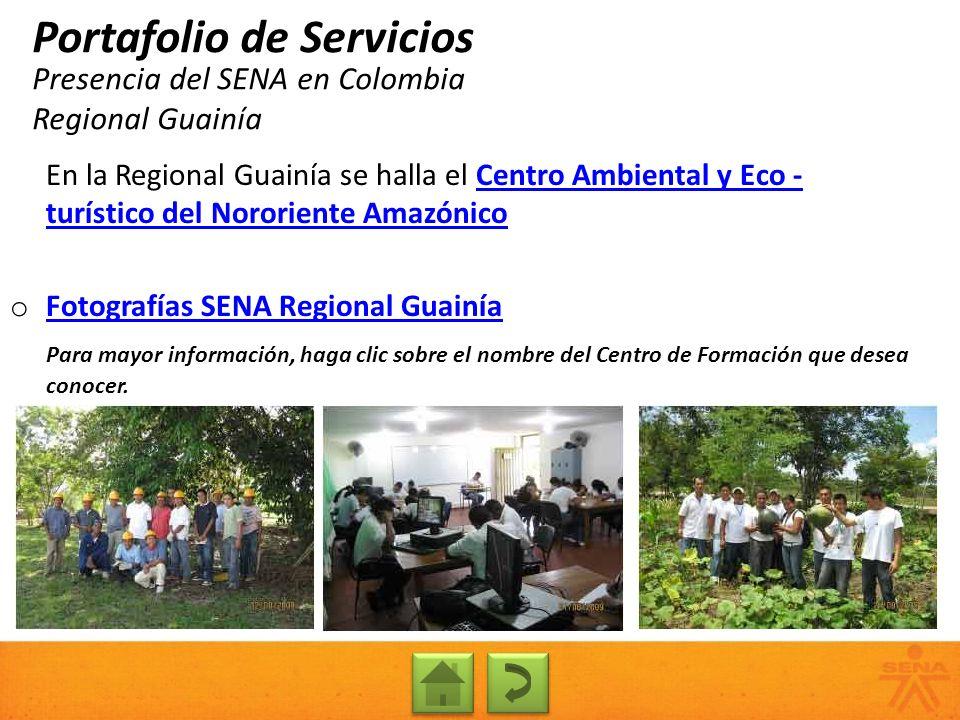 Presencia del SENA en Colombia Regional Guainía