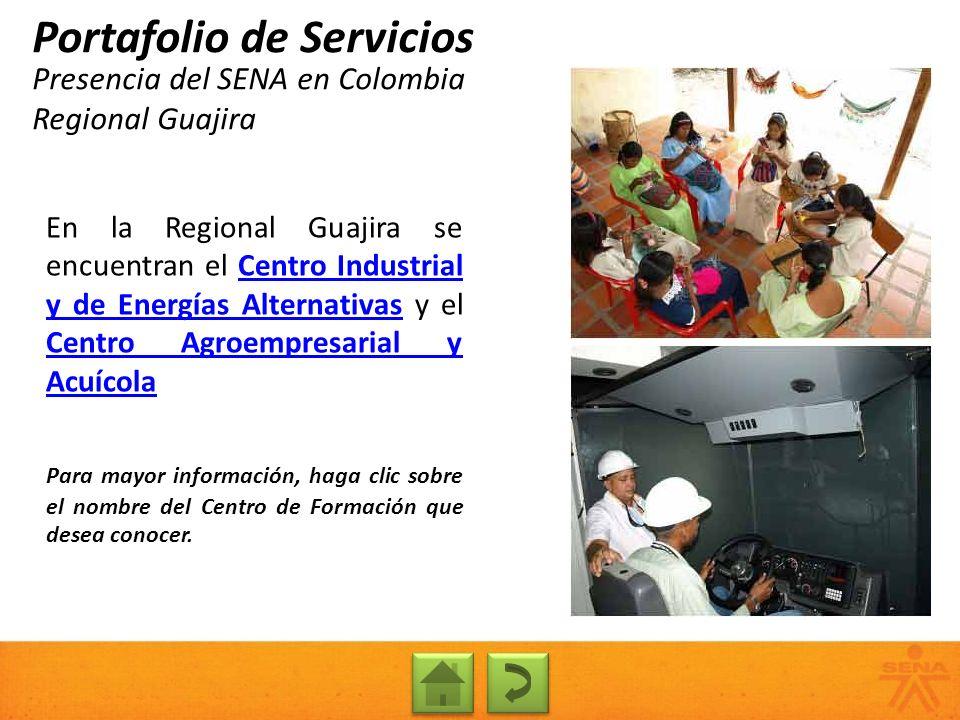 Presencia del SENA en Colombia Regional Guajira