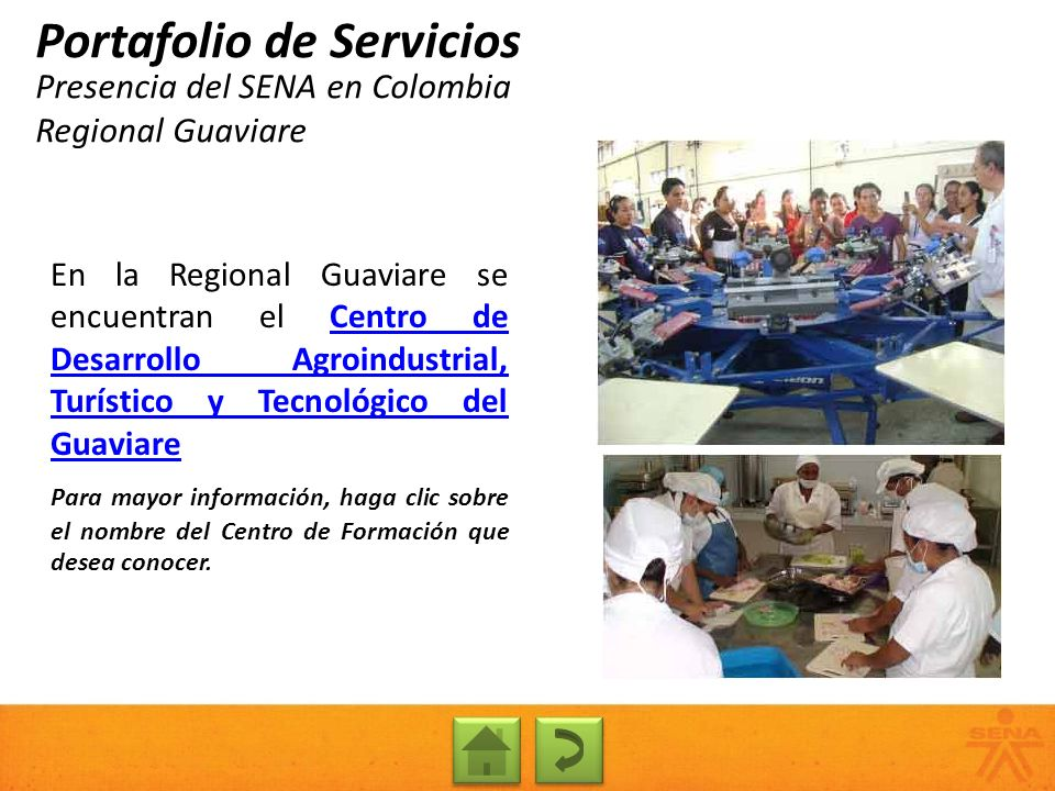 Presencia del SENA en Colombia Regional Guaviare