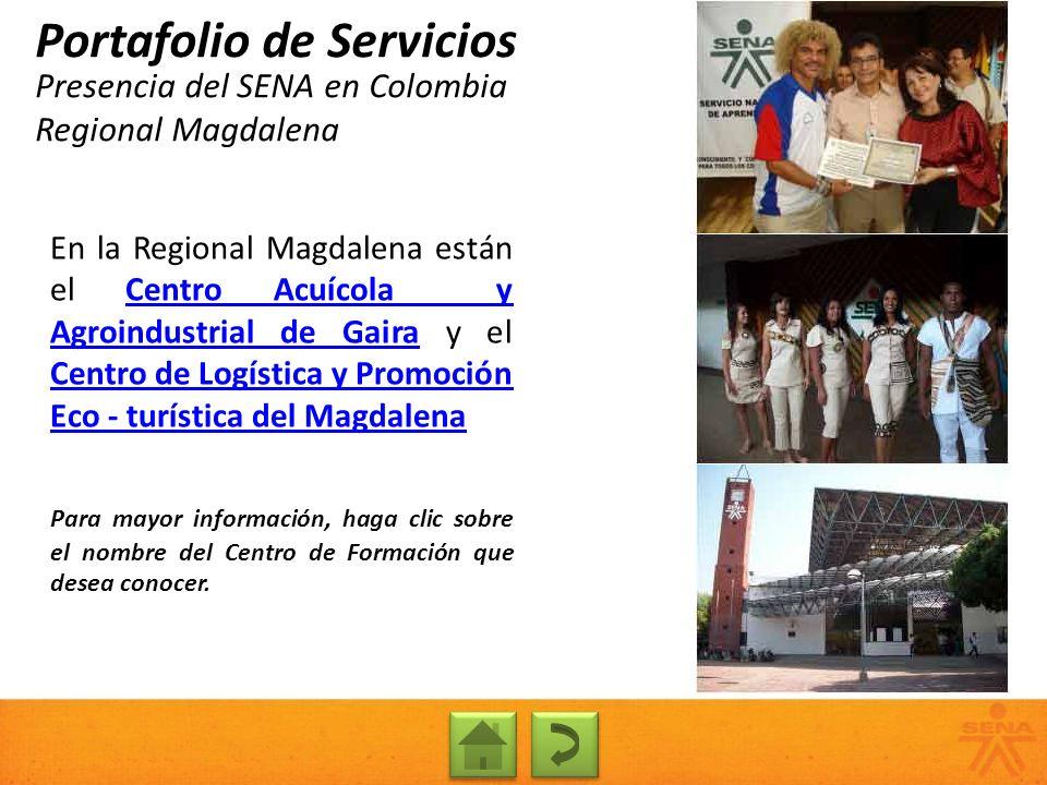 Presencia del SENA en Colombia Regional Magdalena