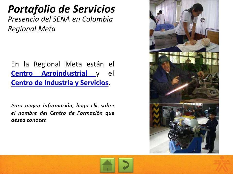 Presencia del SENA en Colombia Regional Meta