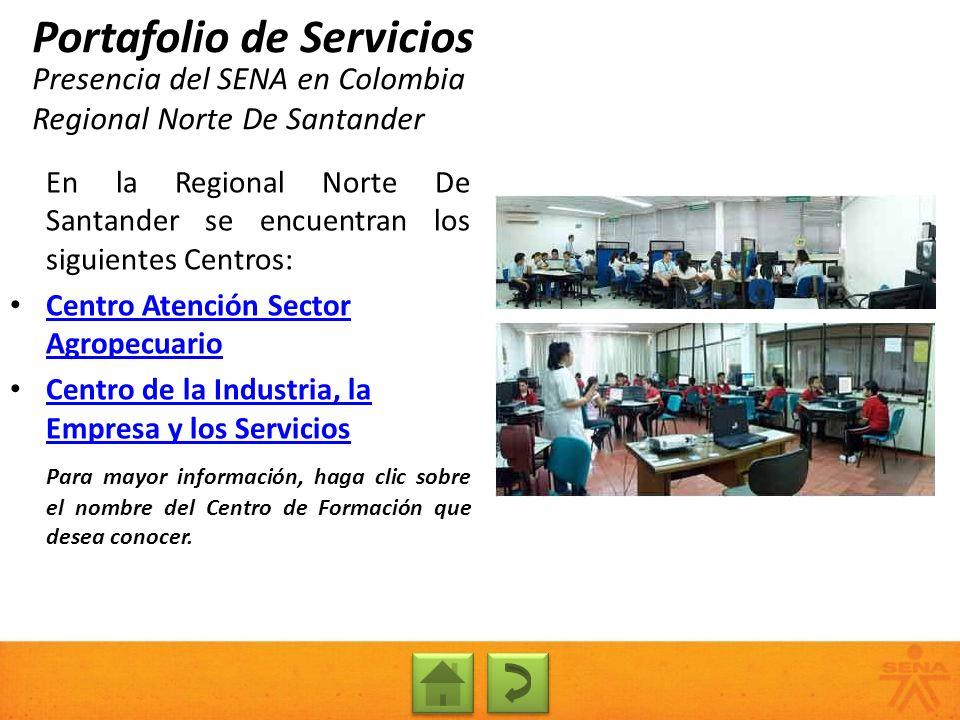 Presencia del SENA en Colombia Regional Norte De Santander