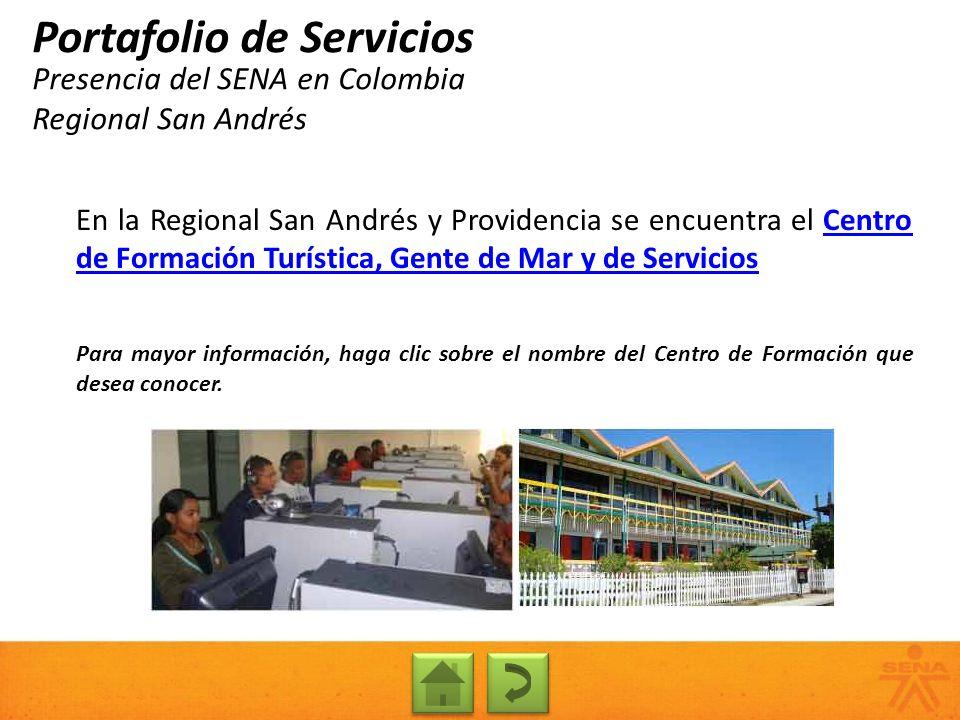 Presencia del SENA en Colombia Regional San Andrés