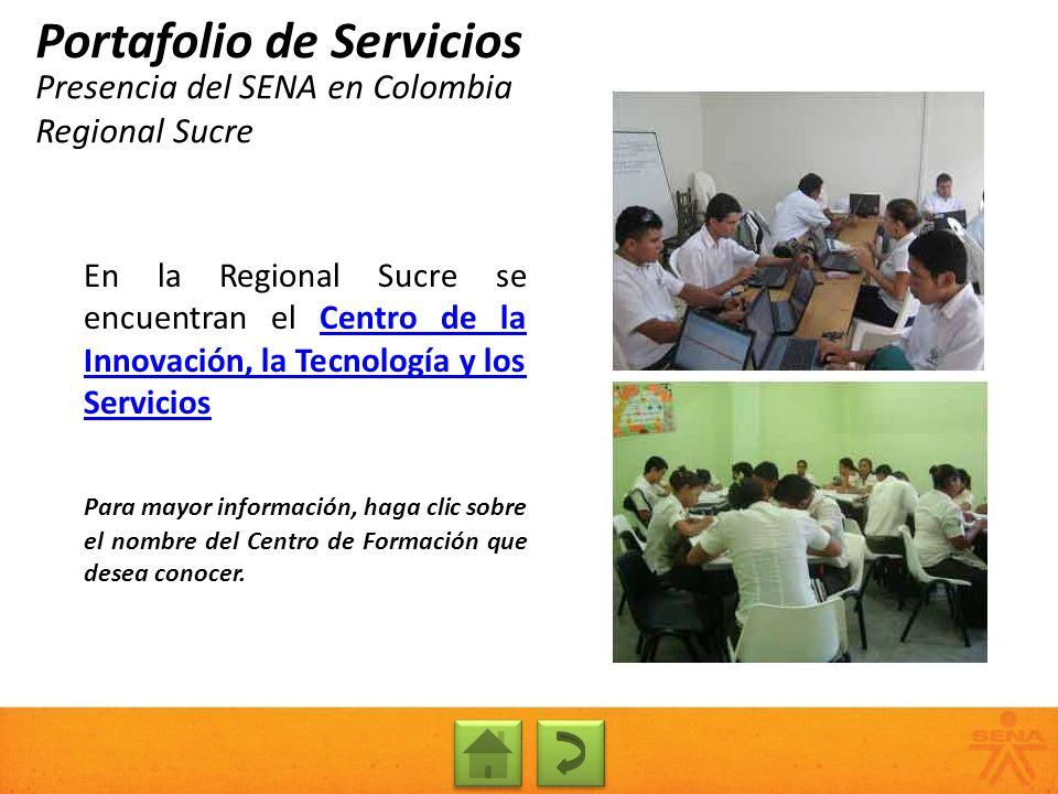 Presencia del SENA en Colombia Regional Sucre