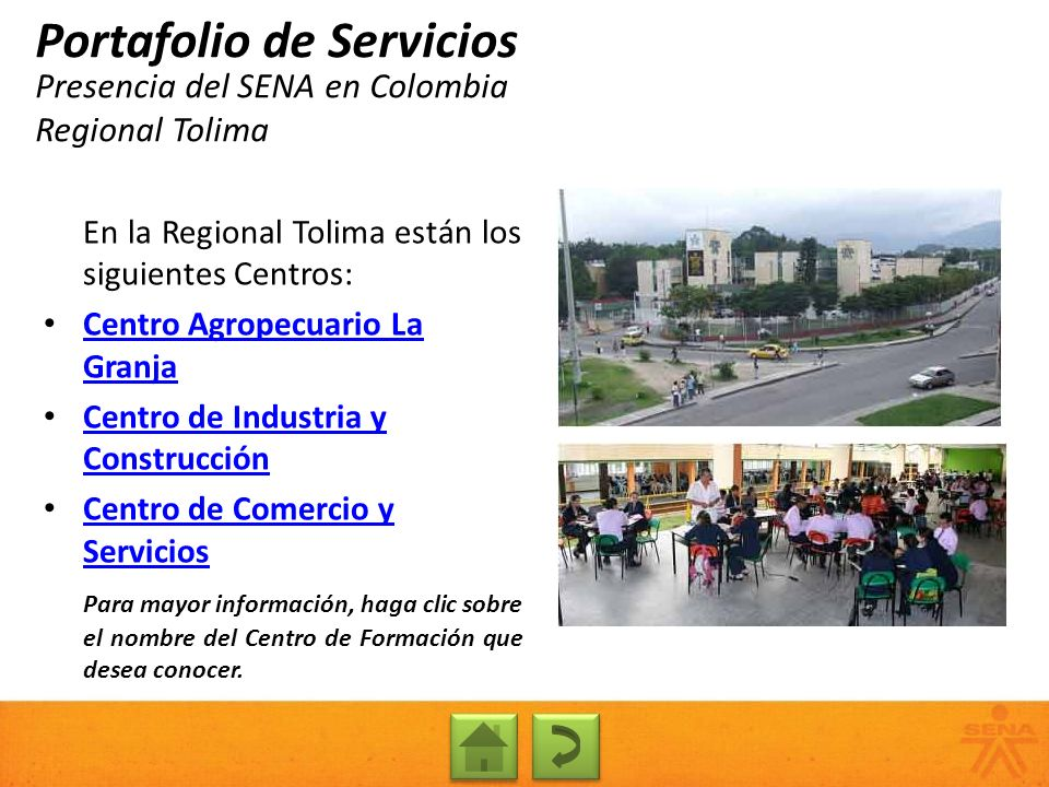 Presencia del SENA en Colombia Regional Tolima