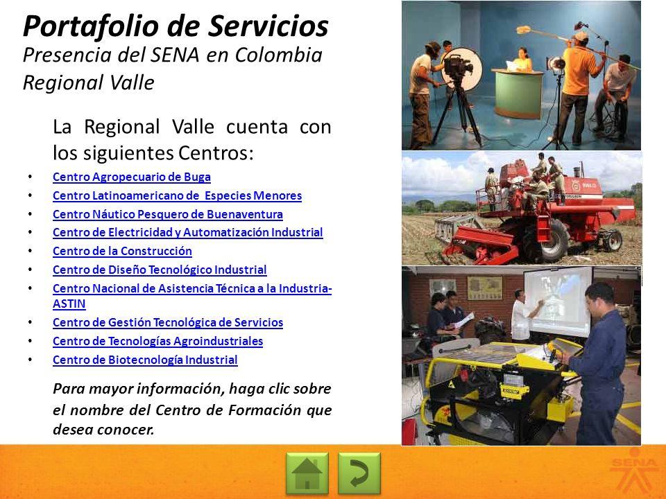 Presencia del SENA en Colombia Regional Valle
