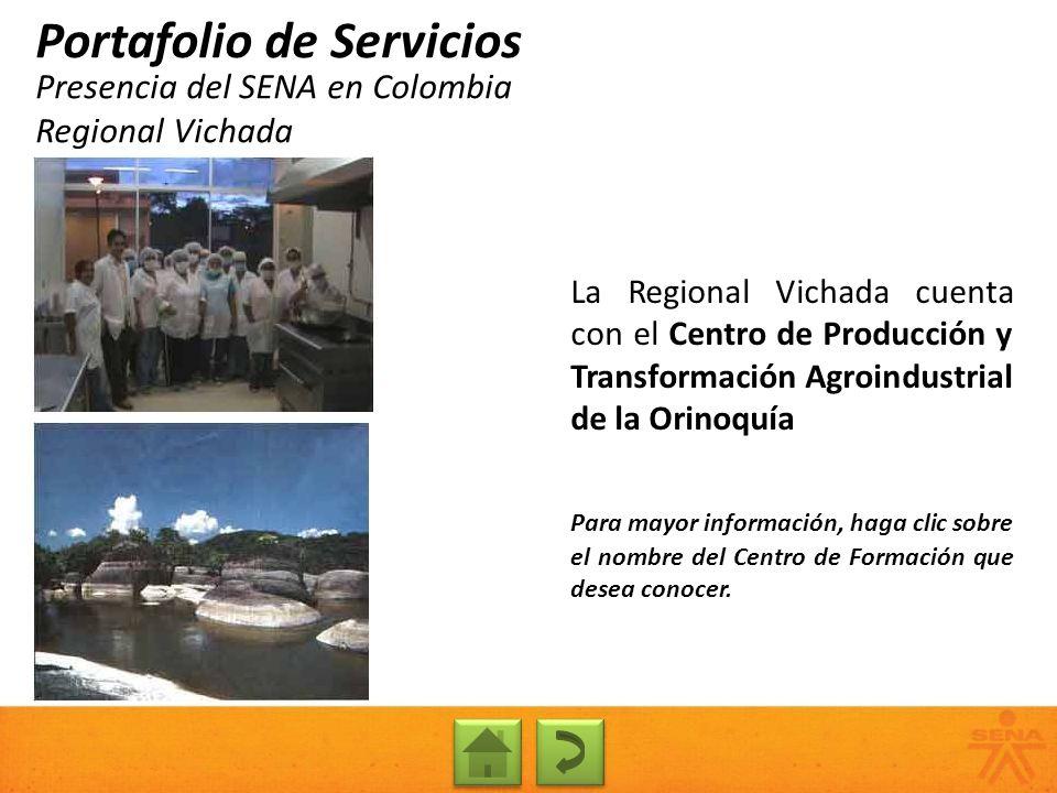 Presencia del SENA en Colombia Regional Vichada
