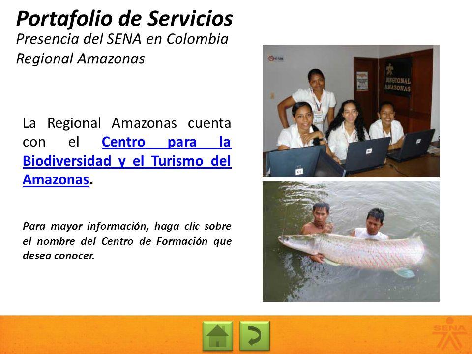 Presencia del SENA en Colombia Regional Amazonas