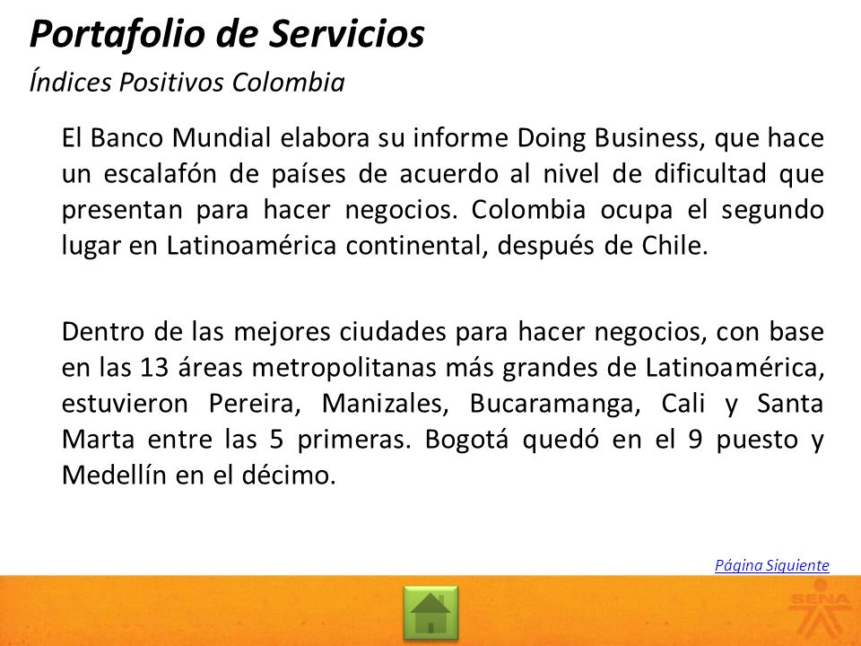 Índices Positivos Colombia