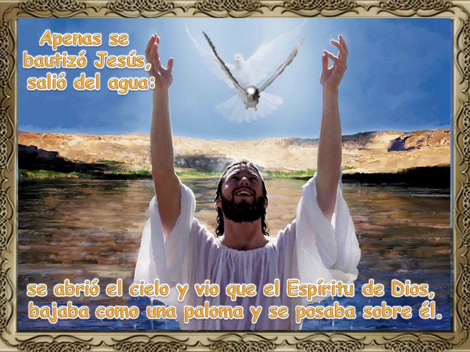 se abrió el cielo y vio que el Espíritu de Dios,