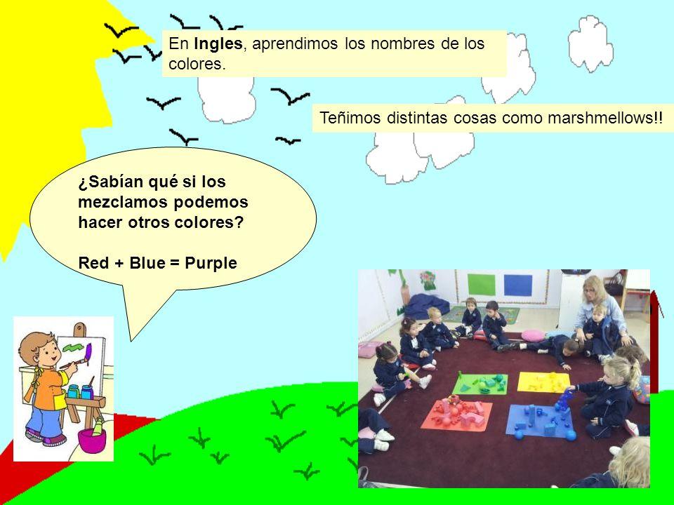 En Ingles, aprendimos los nombres de los colores.