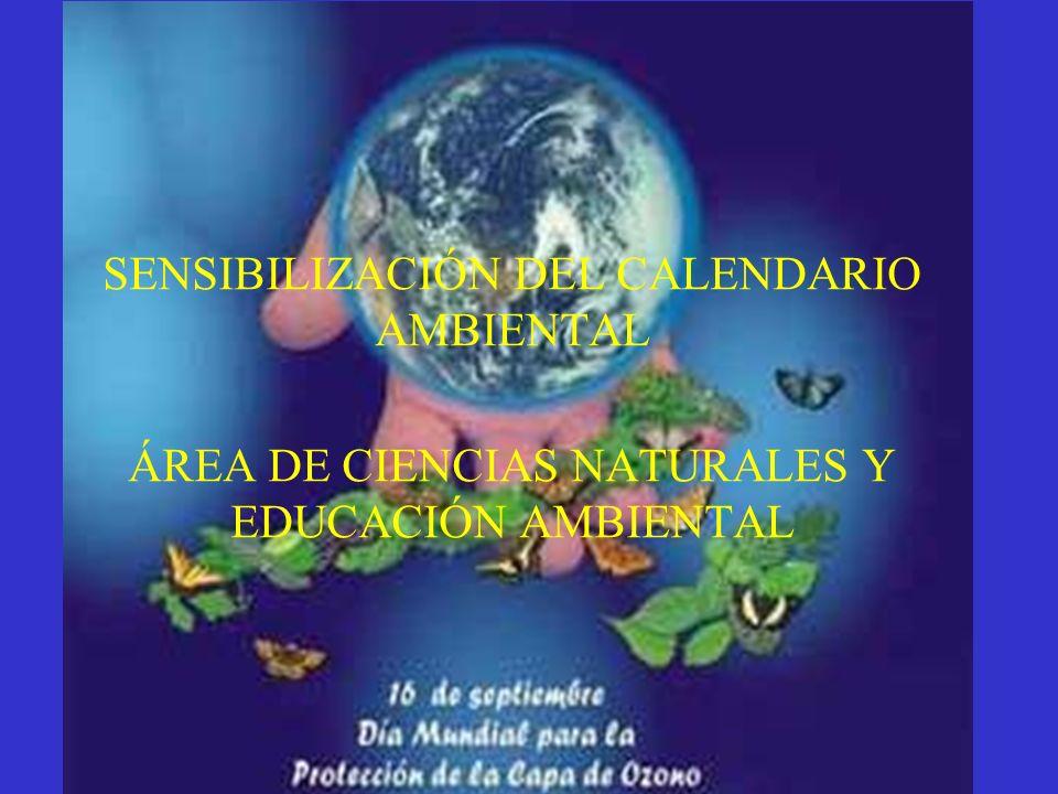 LA CAPA DE OZONO SENSIBILIZACIÓN DEL CALENDARIO AMBIENTAL