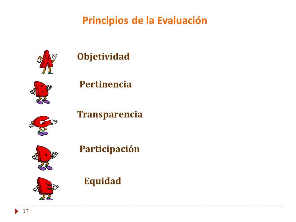 Principios de la Evaluación