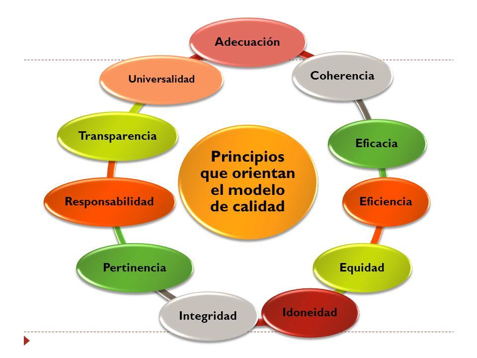 Principios que orientan el modelo de calidad
