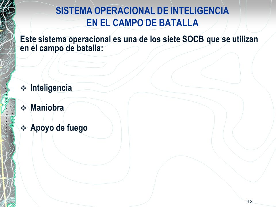 SISTEMA OPERACIONAL DE INTELIGENCIA EN EL CAMPO DE BATALLA