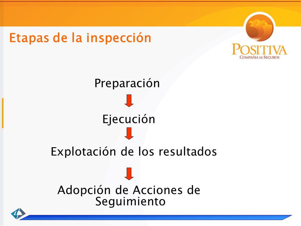 Etapas de la inspección