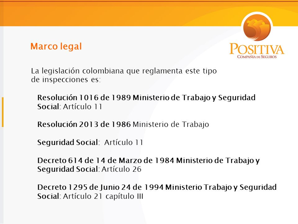 Marco legal La legislación colombiana que reglamenta este tipo
