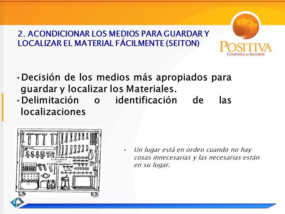 Delimitación o identificación de las localizaciones