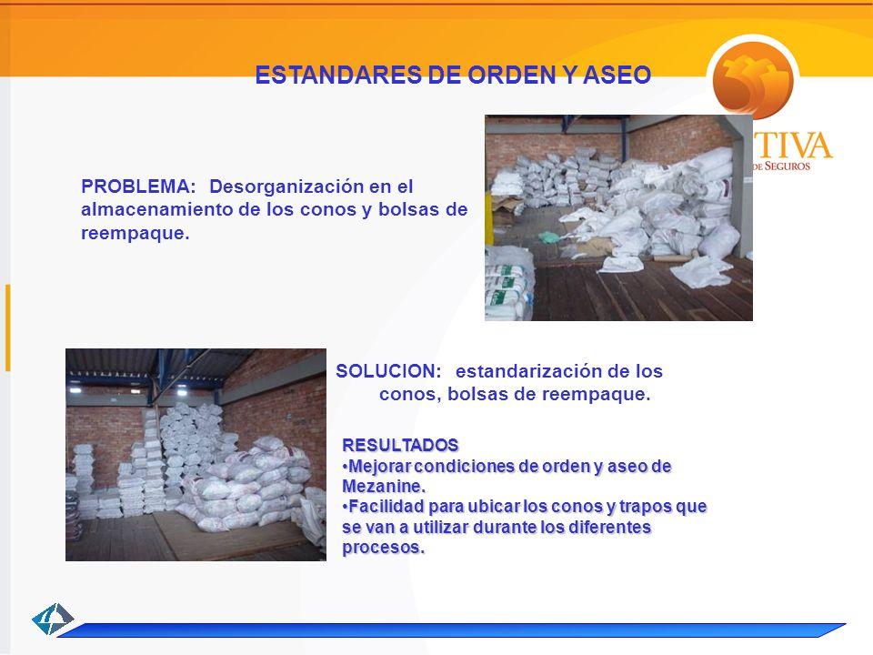 ESTANDARES DE ORDEN Y ASEO