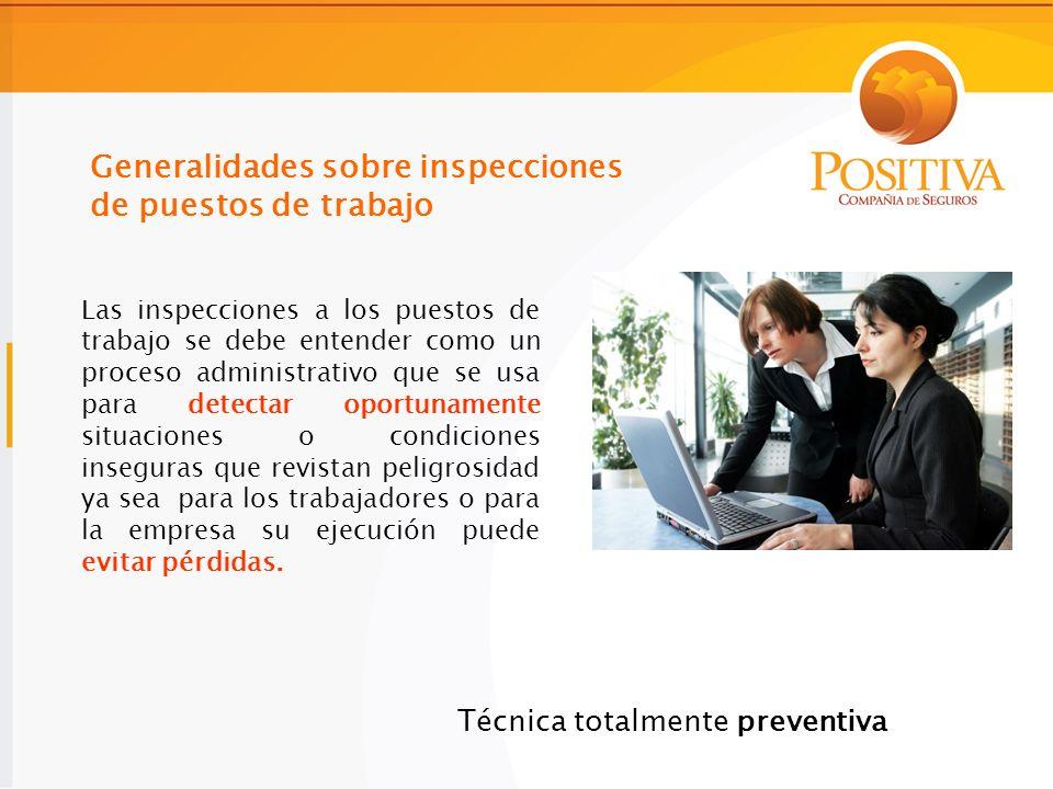 Generalidades sobre inspecciones de puestos de trabajo