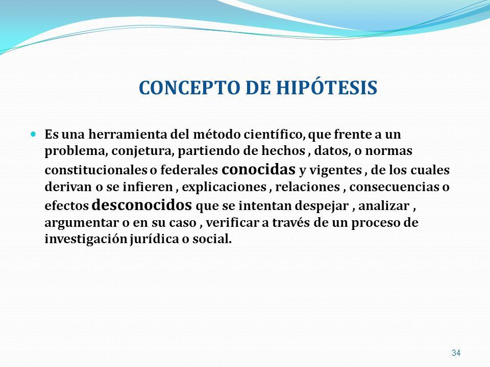 CONCEPTO DE HIPÓTESIS