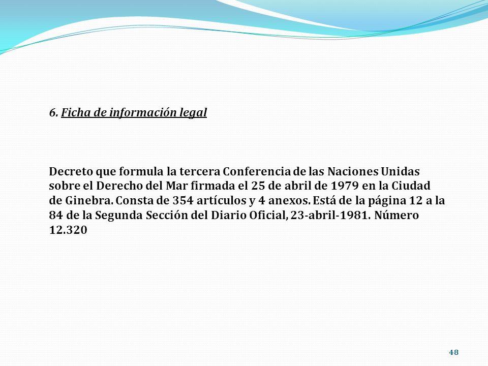 6. Ficha de información legal