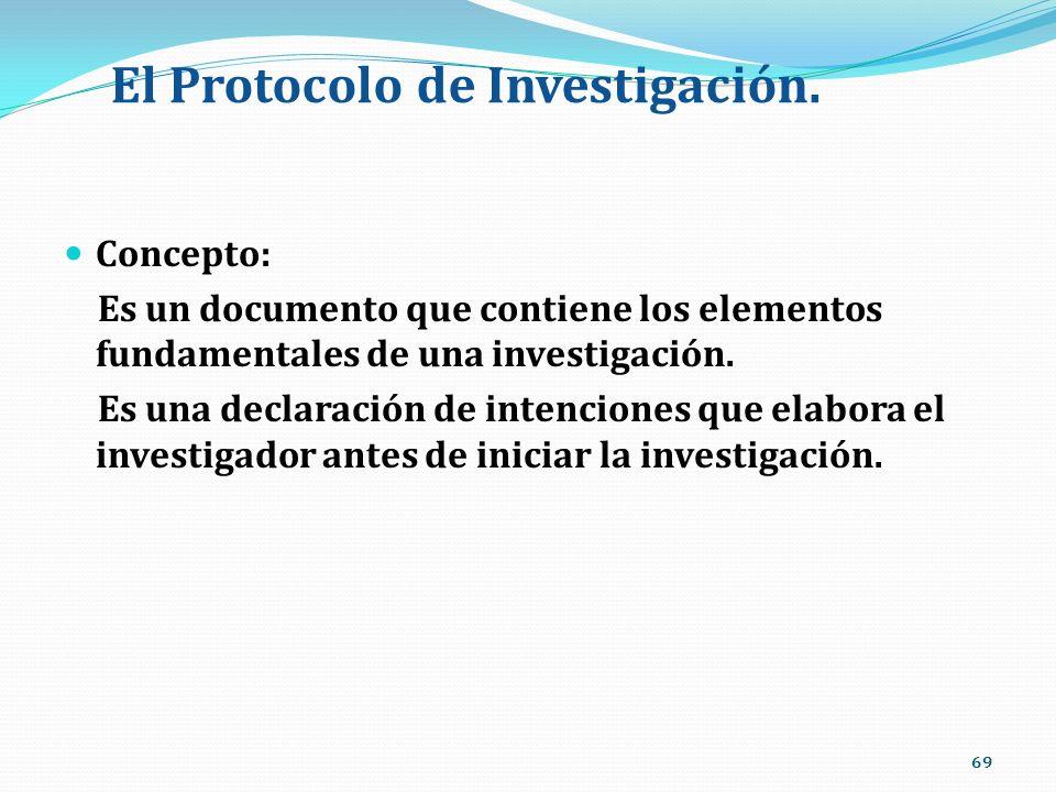 El Protocolo de Investigación.