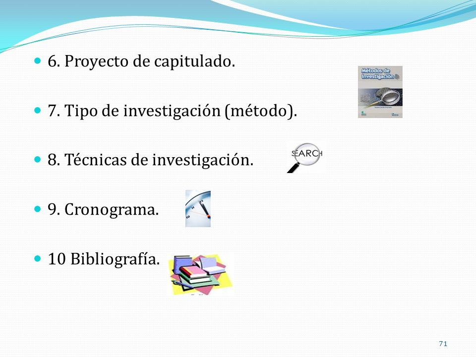 6. Proyecto de capitulado.