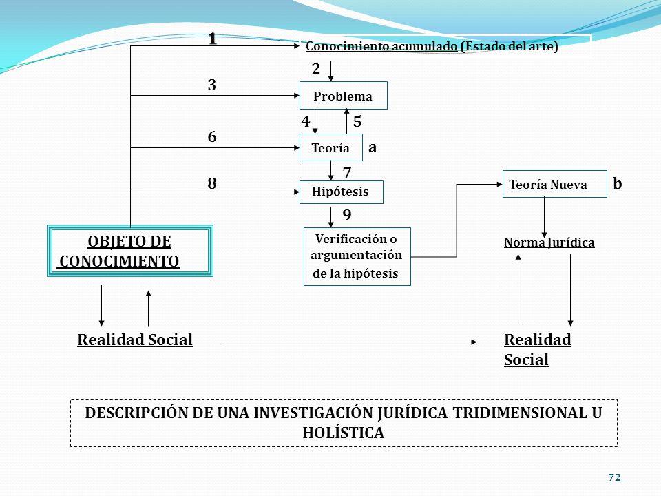 DESCRIPCIÓN DE UNA INVESTIGACIÓN JURÍDICA TRIDIMENSIONAL U HOLÍSTICA