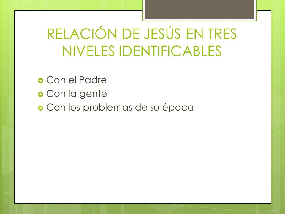 RELACIÓN DE JESÚS EN TRES NIVELES IDENTIFICABLES