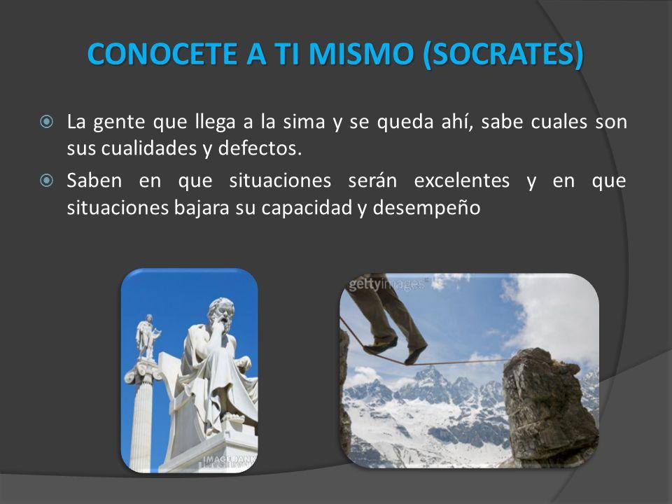 CONOCETE A TI MISMO (SOCRATES)