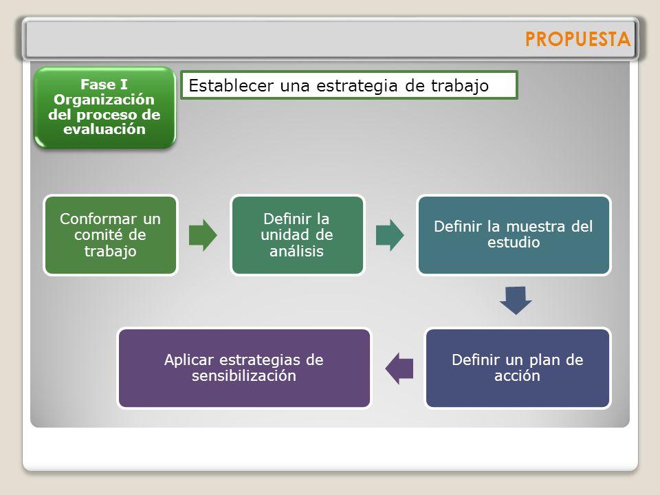 Fase I Organización del proceso de evaluación