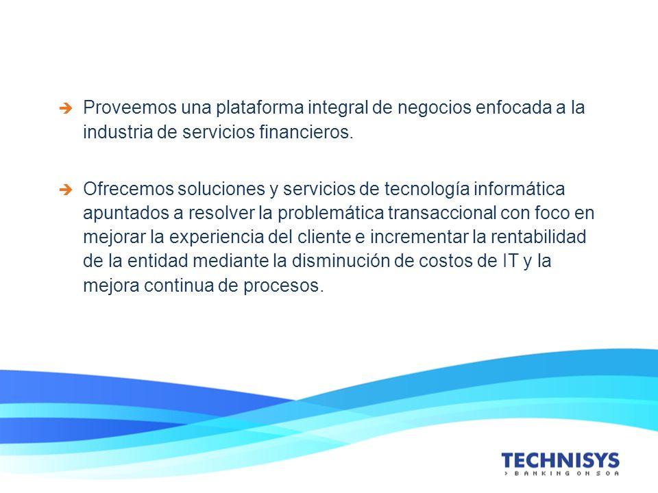 Proveemos una plataforma integral de negocios enfocada a la industria de servicios financieros.