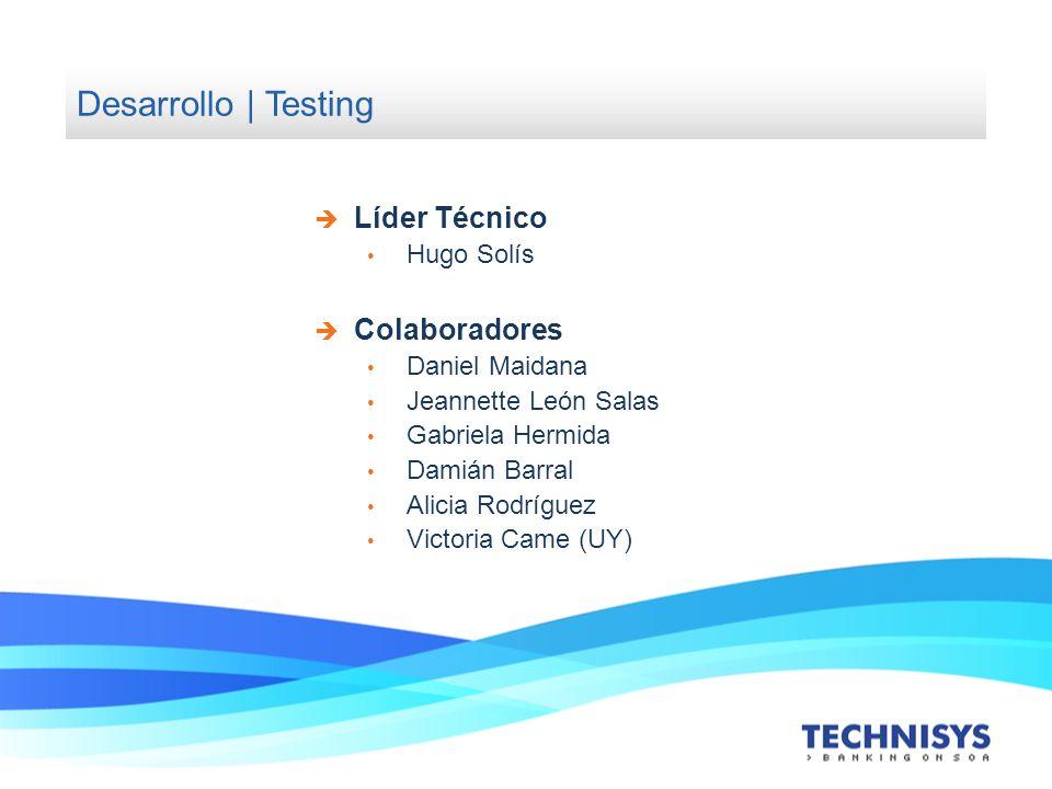 Desarrollo | Testing Líder Técnico Colaboradores Hugo Solís